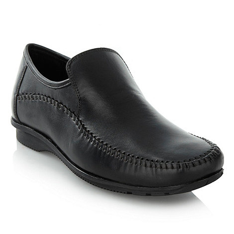 Thomas Nash - Black stitch trim shoes