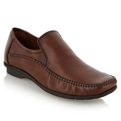 Thomas Nash - Tan stitch trim shoes