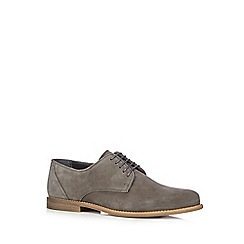 RJR.John Rocha - Grey suede lace up shoes