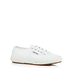 Superga - White lace-up canvas shoes