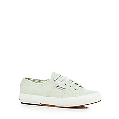 Superga - Light green lace-up canvas shoes