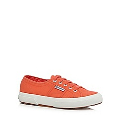 Superga - Bright red 'Cotu' lace up shoes