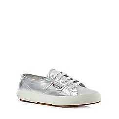 Superga - Silver 'Cotu' lace up shoes