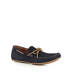Red Herring - Navy bow detail slip-on shoes