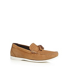 Red Herring - Tan leather tassel loafers