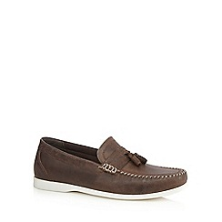 Red Herring - Brown leather tassel loafers