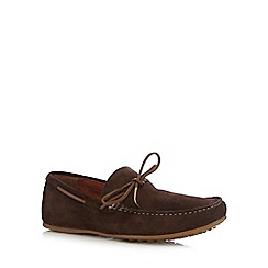 Red Herring - Brown suede loafers