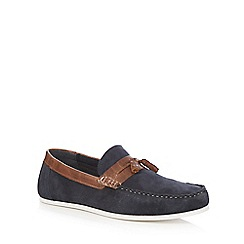Red Herring - Navy 'Beech' suede loafers
