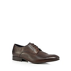 Jeff Banks - Dark brown leather Oxford shoes