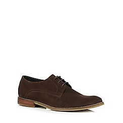 J by Jasper Conran - Dark brown suede Derby shoes