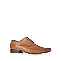 Jeff Banks - Tan leather punch detail shoes