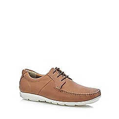 Henley Comfort - Tan leather 'Airsoft' lace up Derby shoes