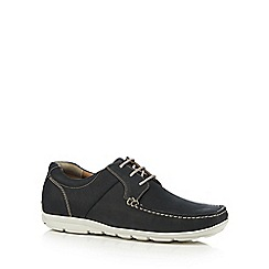 Henley Comfort - Navy leather 'Airsoft' lace up Derby shoes