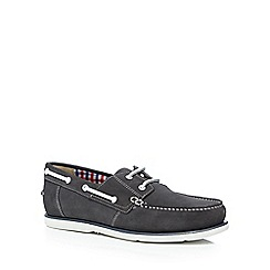 Maine New England - Grey suede 'Pontoon' boat shoes