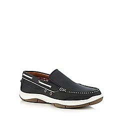 Maine New England - Blue heavy sole slip-on shoes