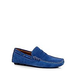 J by Jasper Conran - Blue 'Grant' saddle driver shoes