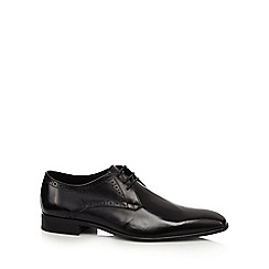 Jeff Banks - Black punch detailed derby shoes