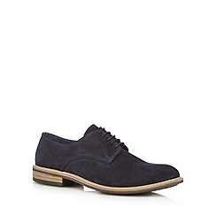 Jeff Banks - Navy suede Derby shoes