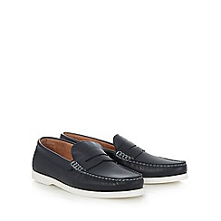 RJR.John Rocha - Navy leather slip-on shoes
