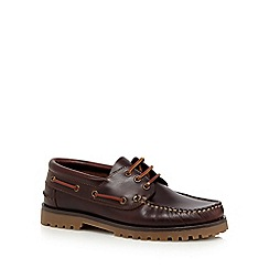 RJR.John Rocha - Brown leather boat shoes