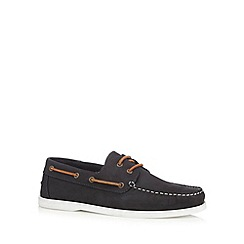Hammond & Co. by Patrick Grant - Navy 'Yale' boat shoes