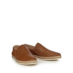 Hammond & Co. by Patrick Grant - Tan woven leather slip-on shoes