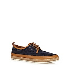 Hammond & Co. by Patrick Grant - Navy 'Carter 3' mesh lace up shoes