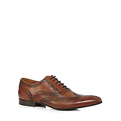 J by Jasper Conran - Tan lace-up formal brogues