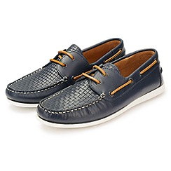 J by Jasper Conran - Navy weaved vamps boat shoes