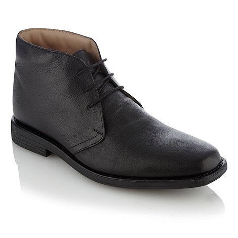 Henley Comfort - Black grain leather boots