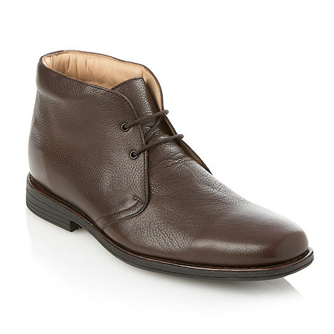 Henley Comfort - Brown grain leather boots
