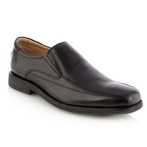 Henley Comfort - Wide fit black pointed slip-on shoes