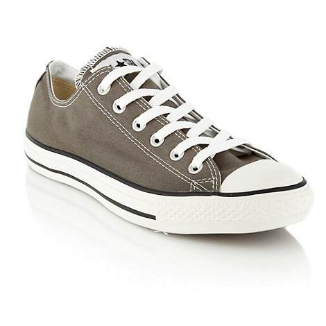 Converse - Converse Grey canvas trainers
