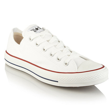 Converse - White canvas trainers