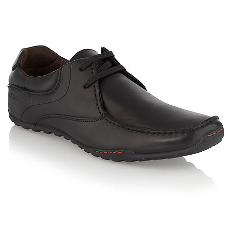 Base London - Black curved seamed leather shoes