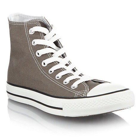 Converse - Grey canvas high top trainers