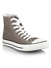 Converse Grey canvas high top trainers
