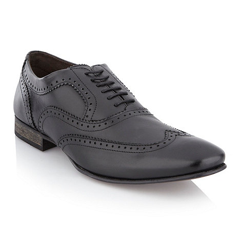 Base London - Black punched trim brogues
