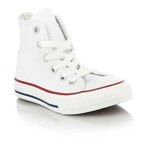 Converse - Children+s white high top +All Star+ trainers