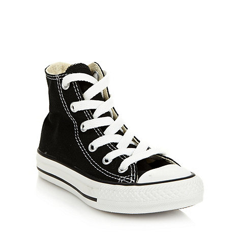 Converse - Children+s black high-top trainers