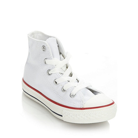 Converse - Children+s white high-top trainers