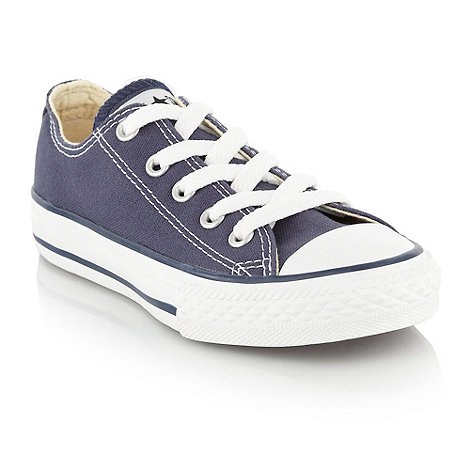 Converse - Boy+s navy canvas trainers