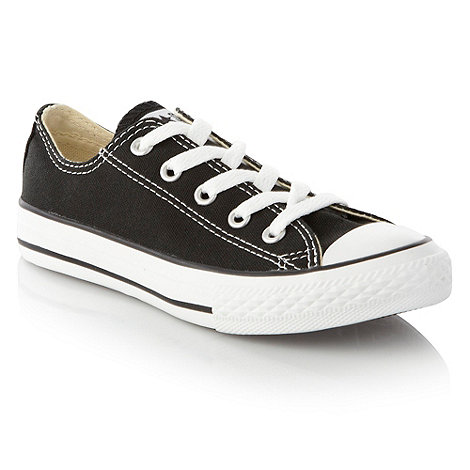 Converse - Converse Boy+s black canvas trainers
