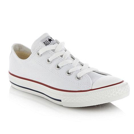 Converse - Converse Children+s white canvas trainers