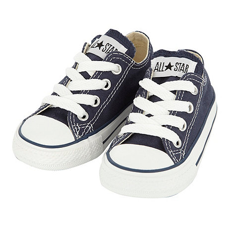 Converse - Converse boy+s navy canvas +All Star+ trainers