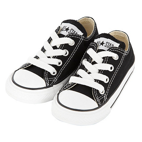 Converse - Converse Boy+s black canvas +All Star+ trainers