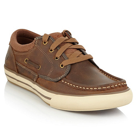 Skechers - Brown 'Planfix' trainers