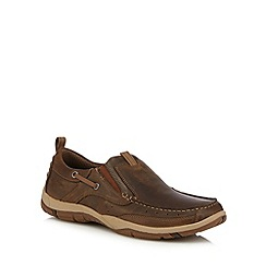 Skechers - Brown 'Newman' slip-on boat shoes