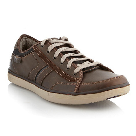 Skechers - Brown leather +Serreno Gordon+ trainers