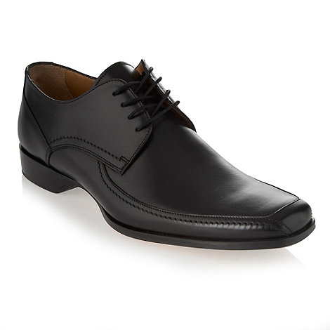 Loake - Black leather apron lace up shoes